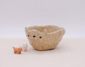 Cat ceramic plant pot, TheBakingCat, Ceramic Cat Mug, Ceramic Cat bowl, Ceramics & pottery, animal mug, Cute cup, Japanese