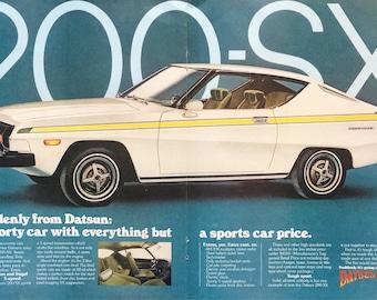 1977 Datsun 200-SX 200SX White Suddenly A Sporty Car Color Photo Print Ad