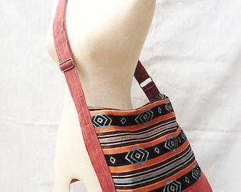 Geometric Tribal Crossbody Bag, Diaper Bag, Messenger Bag