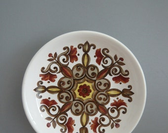 Royal Worcester Palissy Butter / Trinket / Pin / Nibbles Dish Marrakesh Pattern Casual Tableware Retro Vintage Mid Century