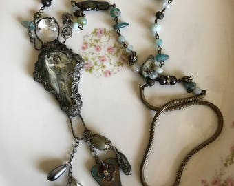 What Should I Wish For?  Assemblage Necklace