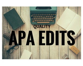 APA papers - APA thesis - APA dissertation - editing services
