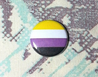 Non-Binary Pinback Button or Magnet