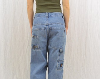 Vintage 90's Baggy Skater Jeans, Size Medium, Paco Jean Company, Tumblr Clothing, Faded Jeans, Distressed