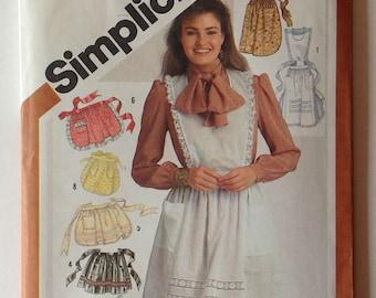 Simplicity 5323 UNCUT Set of Aprons with applique vintage 1981