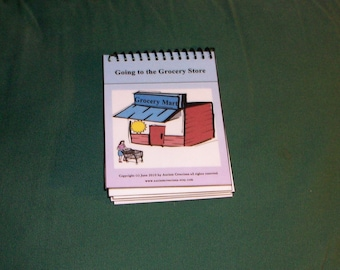 Mini Communication Autism Pecs Grocery Book
