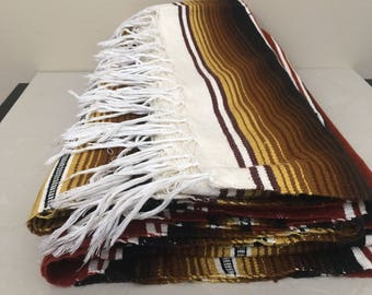 Mexican Serape Saltillo blanket Aztec Southwestern X Large
