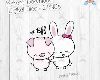 Foo Foo and Friend Piggy - Clipart Set