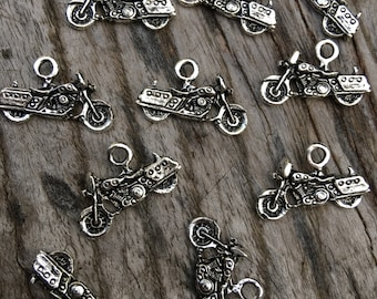 Motorcycle Charm | Motor Bike Charm | Biker Charm | Choose Your Quantity