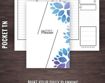 Pocket Daily Planner Printable, Pocket Daily Planner, Pocket TN Inserts, Pocket Travelers Notebook Inserts, Pocket Planner, Pocket Inserts