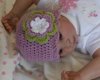 Baby Crochet Hat Pattern - Easy Peasy Shell Trim Baby Hat Crochet Pattern No.103 EIGHT Sizes English