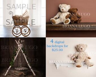 Sale 4 Digital backdrops