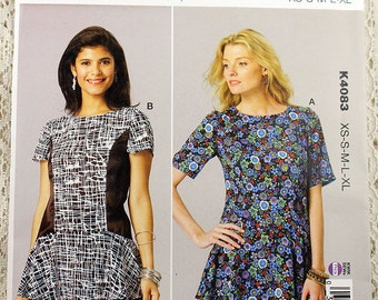 Kwik Sew 4083, Misses' Tops Sewing Pattern, Top with Peplum Pattern, Misses' Pattern, Misses' Size XS, S, M, L, Xl, Uncut