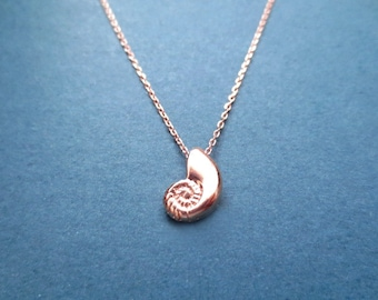 Ariel voice Seashell Rose gold Necklace Shell Necklace