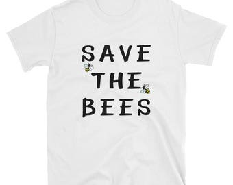 Save the Bees T-Shirt, Bee Shirt, Bees Tee, Beekeeper Shirt, Save the Bees, Endangered, Black/Navy/White Shirts, Unesix Shirt
