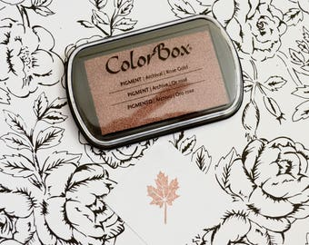 Rose Gold Metallic Ink Pad - Colorbox Pigment Ink pad in Metallic Rose Gold