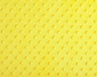 Canary Yellow Cuddle Dimple Minky by Shannon Fabrics - 1 yard