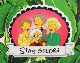 Golden Girls Simpsons Mashup Sticker // Simpsons Girls // Stay Golden // Golden Girls // Groening Girls // Sticker
