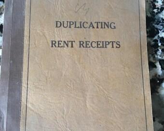 Vintage Receipt Book Pages