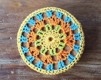 Mandala Crochet Coasters | Set of 4