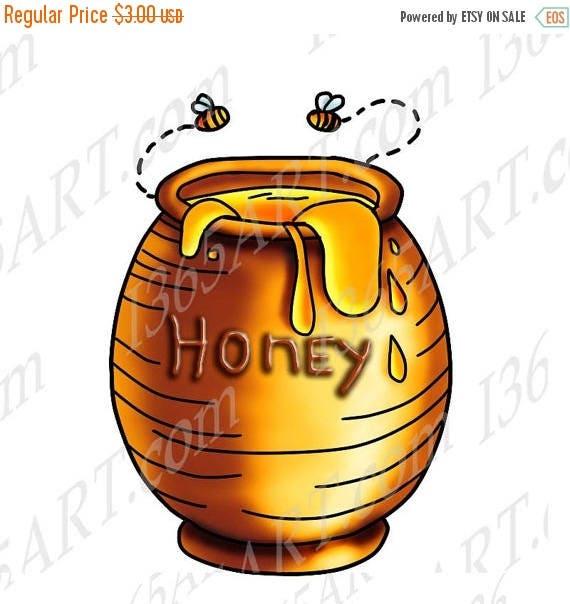 50 off honey clipart honey clip art honey jar honey bees rh etsystudio com honey clipart free clipart honey jar
