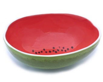 Medium Watermelon Serving Bowl