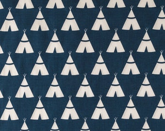 Navy Teepee Crib Sheet, Toddler Bed Sheet, Changing Pad Cover, Pack-N-Play Sheet,Matching Sheet and Changing Pad Cover