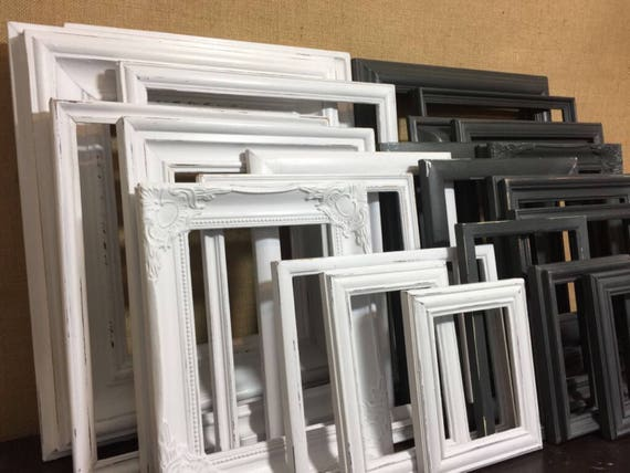 BLACK WHITE Custom Painted Frames Sets of 5 9 12 and 15