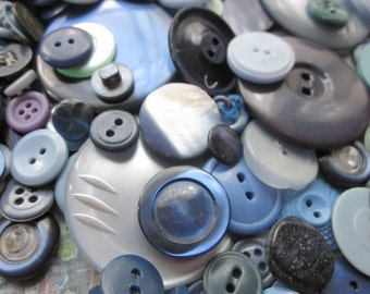 Vintage Shades of Blue Buttons