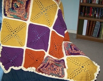 Fall colors granny squares