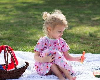 Baby Twirl Dress - Swing Dress for Girl - Twirl Dress for Girl - Little Girl Dresses - High Low Dress - Watermelon Dress - Baby Dress