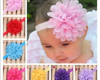 Flower Headband Dahlia/ 12 Colors/ Baby Headband/ Girls Headbands/ Newborn Headbands/ White Bow Headband/ Baby Hair Bows/All Bow