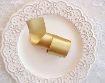Gold Lux Satin Ribbon Double Sided Luxurious Quality Satin Weddings, Invitations, Sashes Crafts, Apparel, Headbands  By the Yard