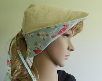 Walking Hat, Sun Hat, Blue Hat, Reversible Outdoor Hat, Hiking Hat, Visor Hat, Pink Hat, Bird Hat, Canvas Hat, Spring or Summer Hat, Cotton