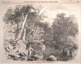 Pennsylvania - Trout Fishing - 1865