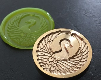 Seal stamp : Japanese crest crane Dia25mm