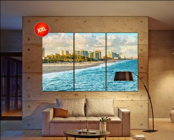 Lauderdale Beach  canvas wall art  Lauderdale Beach  wall decor canvas wall art  Lauderdale Beach large canvas wall art wall decoration