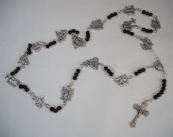 Black Stations of the Cross Chaplet