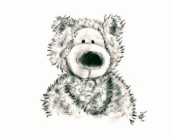 Signed Limited Edition,Black and White, 'My Nose'