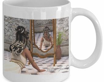 Yoga Fantasy - Medusa in Mirror Cobra Pose Mug