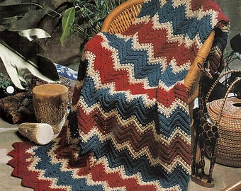 Kenya Ripple Afghan Crochet Pattern The Needlecraft Shop 942120