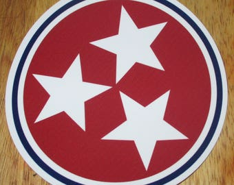 """Tennessee state stars 5"""" decal / sticker"""