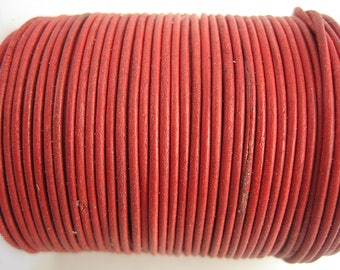 vintage quality sup pink 4 m 1.5 mm leather cord