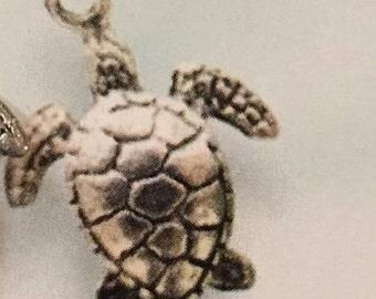 Silver Turtle Necklace - Silver Sea Turtle Necklace - Turtle Necklace - Sea Necklace - Beach Jewelry