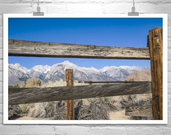 Mount Whitney Picture, Sierra Nevada Mountains, Western Art, Rustic Art, Ranch Art, Owens Valley Desert Photograph, Mt Whitney, Sierra Photo