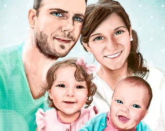 4 people digital portrait