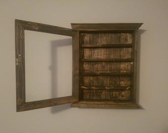 Essential Oil Display Case Storage Cabinet U0027Black Beautyu0027