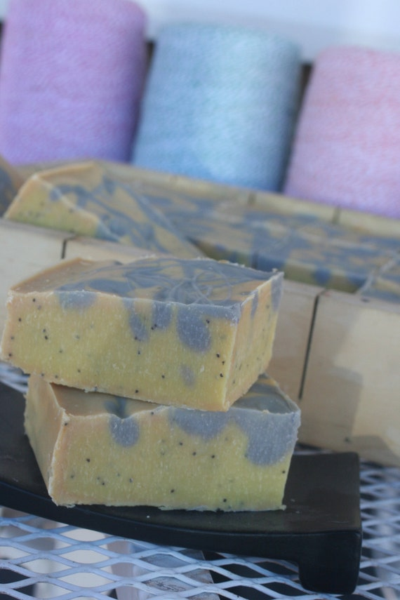 Organic Coconut & Hemp cold process soap with essential oils Karma over 5 ozs