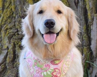 Personalized Paisley Dog Bandana - Custom Bandanas - Best Puppy Dog Gifts by Three Spoiled Dogs