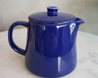 "Vintage Arabia of Finland "" KILTA""  Creamer Jar with Lid, blue color  designed by Kaj Frank in 1952"